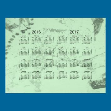 Old Green Paint 2 Year 2016-2017 Wall Calendar Poster from Zazzle.com