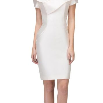Champagne Wedding Guest Formal Dress with Short Sleeves