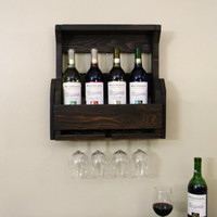 Wine Rack, Father's Day, Pallet Wine Rack, Reclaimed Wood, Rustic Home Decor, Wedding Gift, Pallet Furniture, Wooden Shelf, Mini Bar,