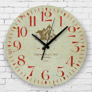 vintage home decor silent wall clock Pastoral style living room decoration watch wall retro wall decor clocks orologio parete