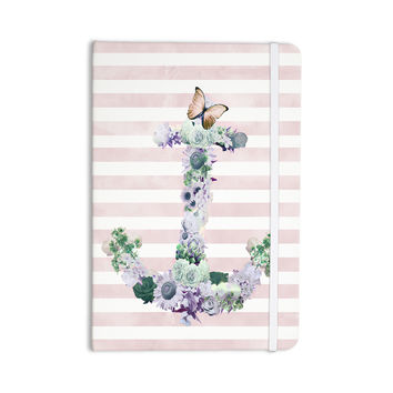 "Nika Martinez ""Floral Anchor"" Pink Stripes Everything Notebook"