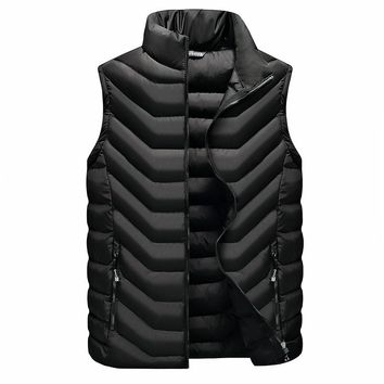 high quality winter sports mens vests outdoor Warm fishing tactical hiking vest heated clothing men down vest sleeveless jacket