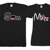 "Soul Mate  ""Cute Couples Matching T-shirts"""