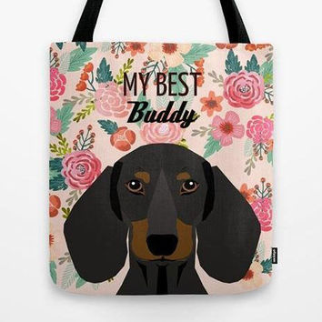 My best Buddy tote bag, Customized tote bag with dog, Dog totes, Dog lovers tote bag, Dog lovers gift, Personalized tote bag