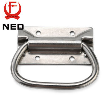 Ned-J204 Cabinet Handle Wooden Case Knobs Tool Box Stainless Steel Handles Kitchen Drawer Pull Bear 250Kg For Furniture Hardware