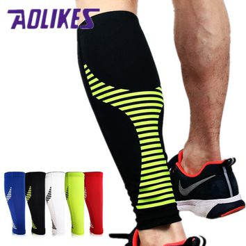 1PCS Base Layer Compression Leg Sleeve Shin Guard 2017 Brand Cycling Leg Warmers Running Football Basketball Sports Calf Support