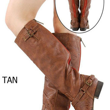 Red Zipper Boots