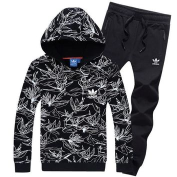 NOV9O2 Adidas Top Sweater Pullover Hoodie Pants Trousers Set Two-Piece Sportswear-6