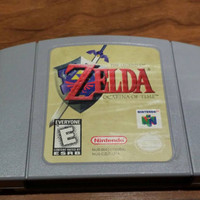 The Legend of Zelda Ocarina of time  cartridge. NINTENDO 64 console system game
