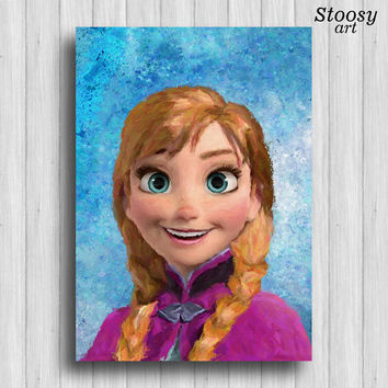 Frozen Anna poster disney princess decor