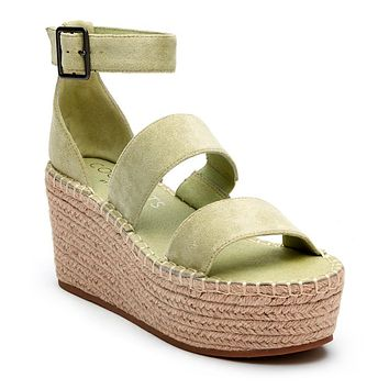 Matisse Soire Wedge in Mint