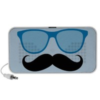 Funny Blue Sunglasses Mustache Speakers from Zazzle.com