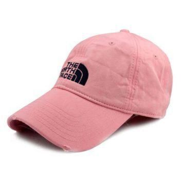 ONETOW Pink The North Face Cotton Baseball Golf Cap Hat