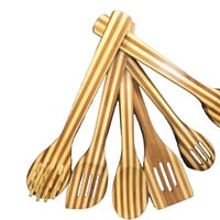 Holistic Home 6 Piece Bamboo Utensil Tool Set