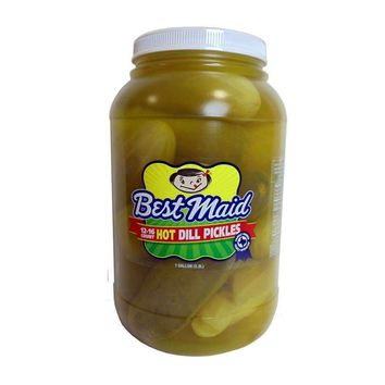 Best Maid Whole Hot Dill Pickles 1 gallon