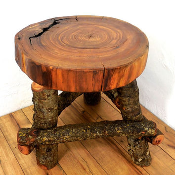 Reclaimed wood stool, Reclaimed wood end table, Reclaimed wood table, Rustic table, Primitive table, Primitive stool, Rustic furniture
