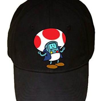 'Plumbing Time' Mushroom Robot Console Character Funny Video Game & TV Show Cartoon Parody - 100% Cotton Adjustable Hat