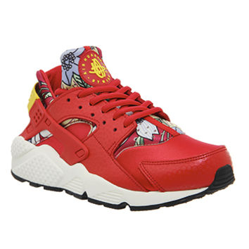 Nike Air Huarache Red Aloha Print W - Unisex Sports