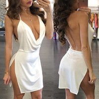 Malu's Low Cut Dress