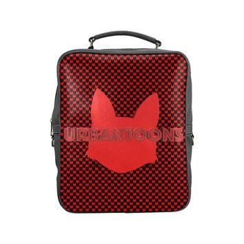 Urbantoons Vegan Leather Red Drip Square Backpack (Model 1618)