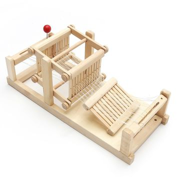 Chinese Traditional Wooden Table Weaving Loom
