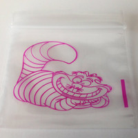 100 (Alice in Wonderland, Pink Cat) 2 x 2 Small Ziplock Baggies, 2020 Mini Dime Bags