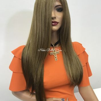 Balayage blond lace front wig - Love Fallen Aside 218 19