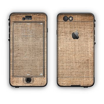 The Woven Fabric Over Aged Wood Apple iPhone 6 LifeProof Nuud Case Skin Set