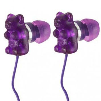 Grape Gummy Bear Headphones, Grape Gummy Bear Earbuds, Gummy Bear Earphones