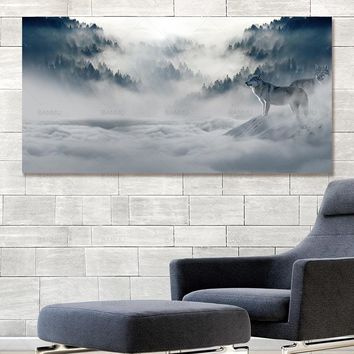 wall art Canvas Painting Modern Poster wolf  picture landscape abstract print and poster picture decor print on canvas wall art