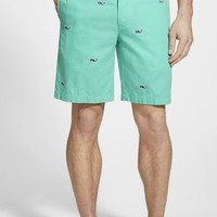 Men's Vineyard Vines 'Embroidered Whale' Flat Front Shorts