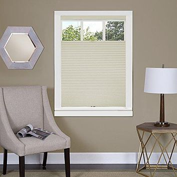 Ben&Jonah Collection Top Down-Bottom Up Cordless Honeycomb Cellular Shade 31x64 Alabaster