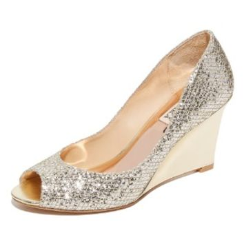 Awake Glitter Wedge Pumps
