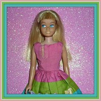 Mattel Skipper Doll - Blonde + Country Picnic Dress #1933 From 1966 (item #1286394)