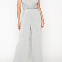 V-Neck Versatile Jumpsuit
