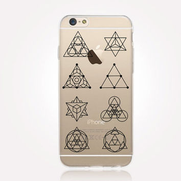 Transparent Sacred Geometry iPhone Case- Transparent Case - Clear Case - Transparent iPhone 6 - Transparent iPhone 5 - Transparent iPhone 4