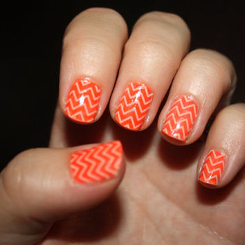 Nude Chevron Vinyl Nail Sticker by LongChanged on Etsy