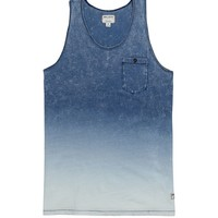 Billabong Garage Collection Indigo Fade Tank Top - Mens Tee - Blue