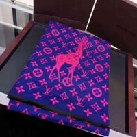 Louis Vuitton Woman Cashmere Scarf Shawl Silk Scarf-11