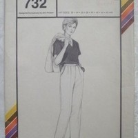 Stretch & Sew Sewing Pattern #732 Womens Pleated Pants~Vintage 1984~ Ann Person
