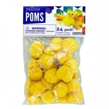 Yellow Craft Poms