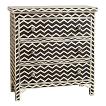 Bone Inlay Furniture - Striped Chevron Modern Dresser Sideboard | Free Shipping