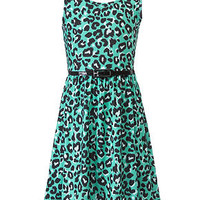 Beautees Girls Dress, Belted Animal-Print - Kids Girls 7-16 - Macy's