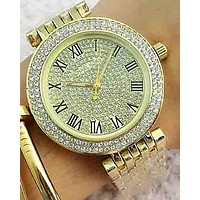 MK Michael Kors 2018 Trendy Stylish Men's and Women's Quartz Watches F-Fushida-8899 Gold