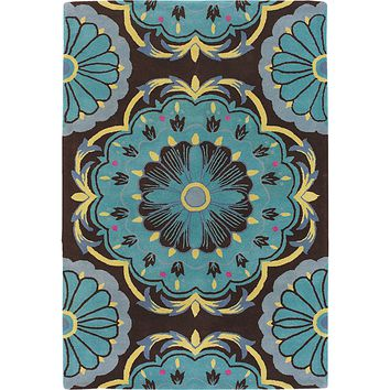 Dharma Coll. Hand-Tufted Contemporary Area Rug New Zealand Wool (7'9 Round)