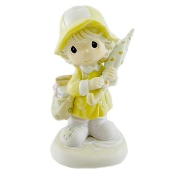Precious Moments I'M THERE FOR YOU RAIN OR SHINE Porcelain Get Well 118361