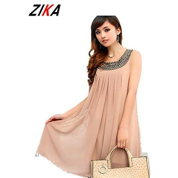 ZIKA Pregnant Maternity Dresses Casual Pregnancy Clothes For Pregnant Women Clothing Gravida Chiffon Knee-length Vestidos Summer