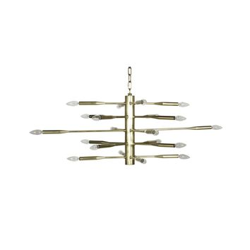 ANTIQUE BRASS SPUTNIK CHANDELIER