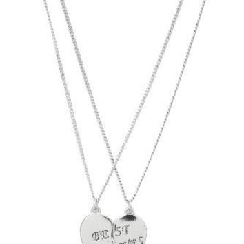 Silver Best Bitches Friendship Necklaces