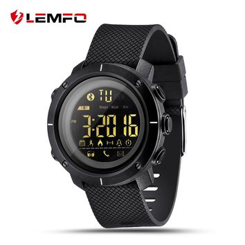 LEMFO LF19 Smart Watch Waterproof Wrist Clock Pedometer Smart Watch Waterproof Swimming Bluetooth Sync for IOS Android Phone